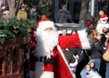Santa waving