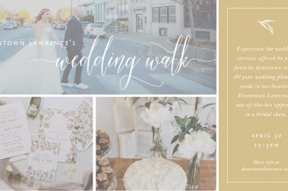Downtown Lawrence Wedding Walk