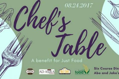 Chef's Table: A benefit for Just Food