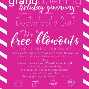 &Blowdry Grand Opening & Holiday Giveaway