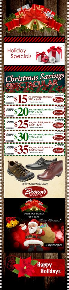 Browns Shoe Christmas