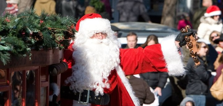 Downtown Lawrence Santa Sightings
