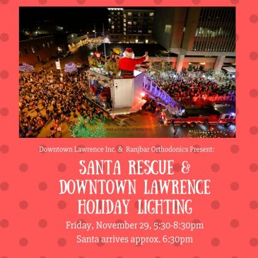 Santa Rescue & Holiday Lighting Ceremony