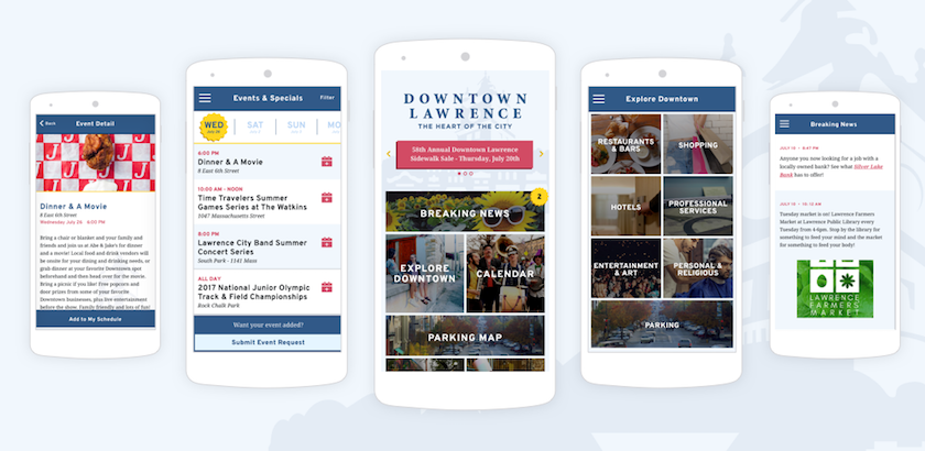 Get the Downtown Lawrence App! Text DLI to 74574