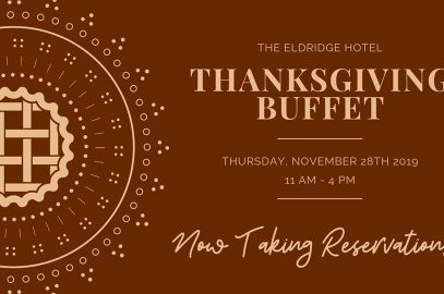 Eldridge Hotel's Thanksgiving Buffet