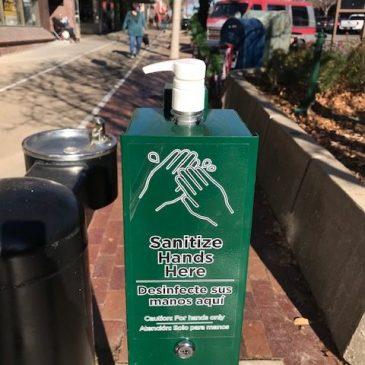 Downtown Sanitation Stations Have Arrived